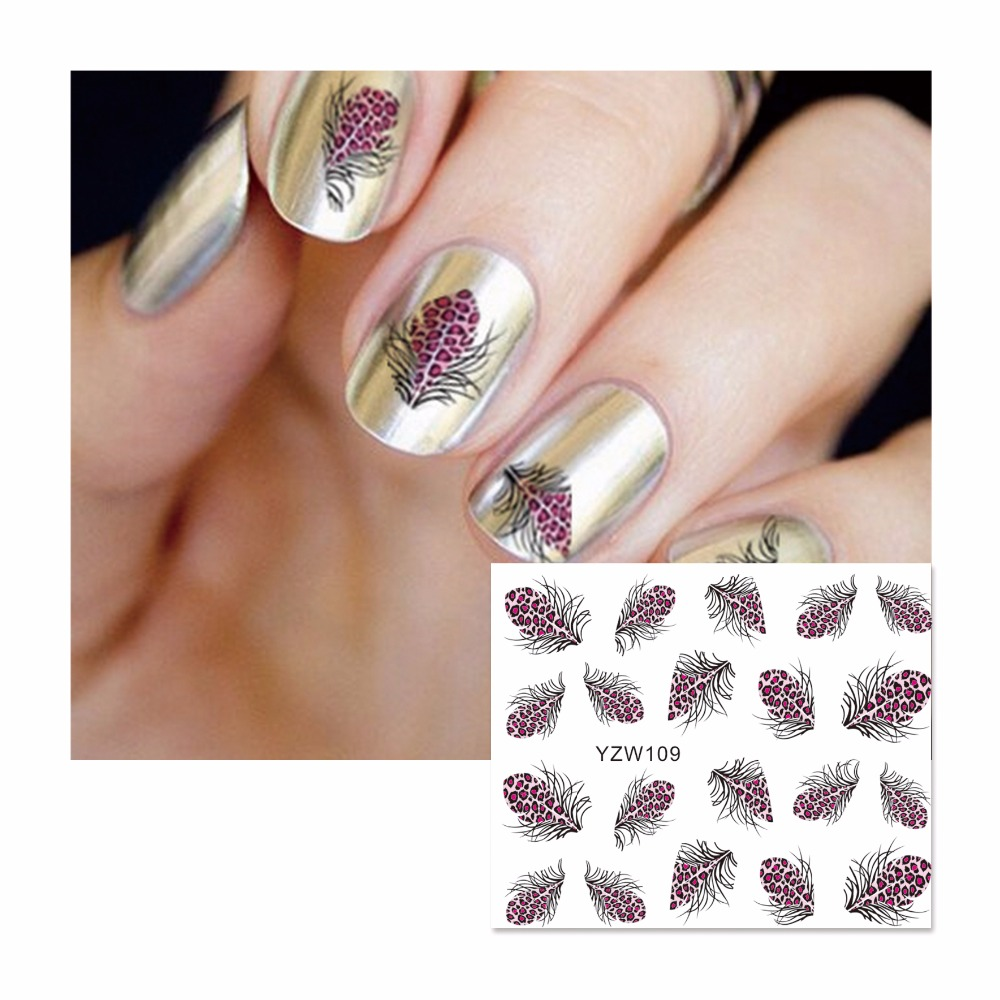 YWK Cartoon Water Transfer Nail Art Stickers Decals For