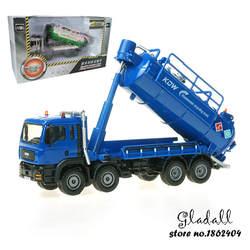 KDW переработки сточных вод транспортного средства всасывания сточных вод грузовик Литой engineering модели автомобилей игрушки для детей 1:50