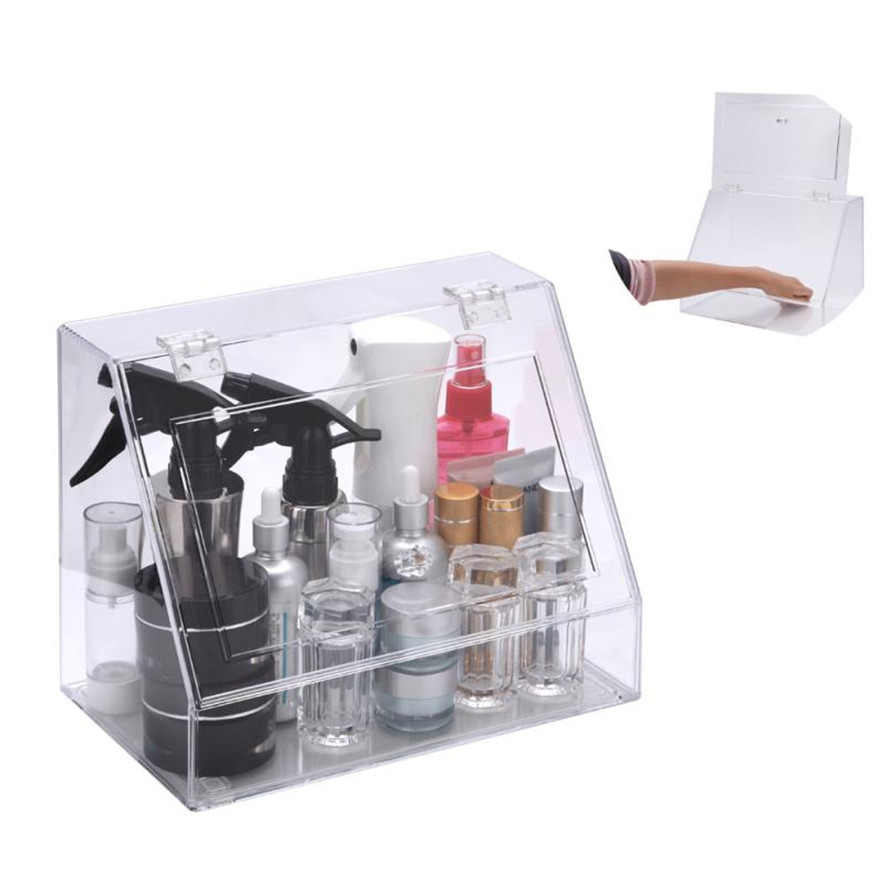 HAICAR 1PC Cosmetic Organizer Clear Acrylic Makeup Drawers Holder Case Box Jewelry Storage Multifunctional Makeup Tool Kit acrylic cosmetics makeup and jewelry storage box 3 small drawers space saving