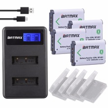 4 pcs NP BX1 np-bx1 Carregador de Baterias accu + LCD Para Sony DSC-RX100 DSC-WX500 IV HX300 WX300 CX240E MV1 HDR-AS15 AS30V HDR-AS300