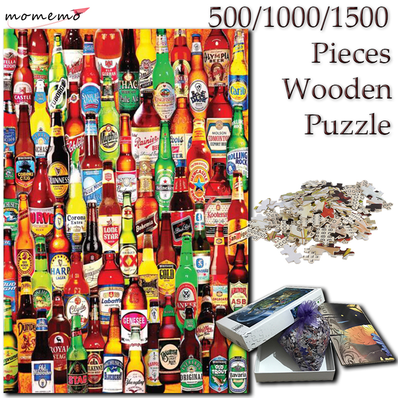 MOMEMO Pressurized Bottle <font><b>Jigsaw</b></font> <font><b>Puzzle</b></font> Wooden 1000 <font><b>Pieces</b></font> Adults <font><b>Puzzles</b></font> 500 1000 <font><b>1500</b></font> <font><b>Pieces</b></font> Toys for Kids Children Gifts image