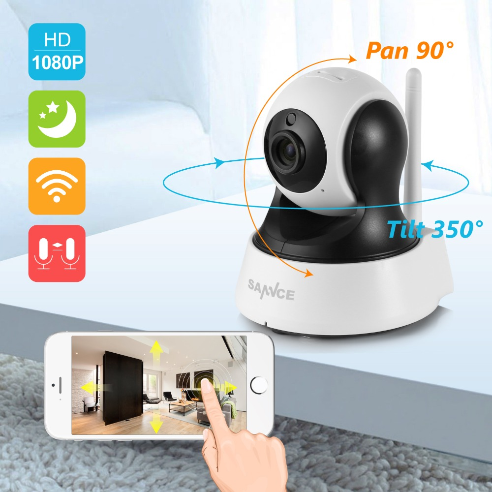 SANNCE 1080P HD Wireless wifi IP Camera 2MP CCTV Surveillance Security Camera home indoor WiFi Camera Baby Monitor two way Audio jcwhcam 720p ptz wifi ip camera wireless home security cctv surveillance camera p2p ir infrared two way audio baby monitor
