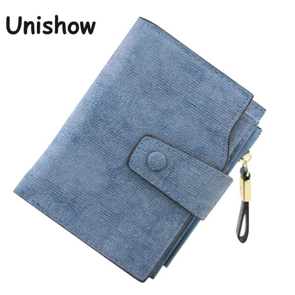 Solid Vintage Matte Women Wallet Fashion Small Female Purse Floral Carteras Mujer Femininas short wallet purse