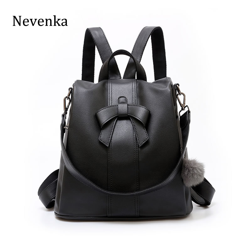 Nevenka Anti-theft Women Backpacks Fashion Brand Ladies Large Capacity Backpack High Quality Waterproof PU Leather Backpacks