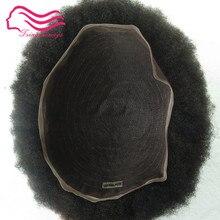 Афро кудрявые 1b кружева мужские s парик афро кудрявые волосы кусок Мужская система волос tsingtaowigs тонкая кожа dhl