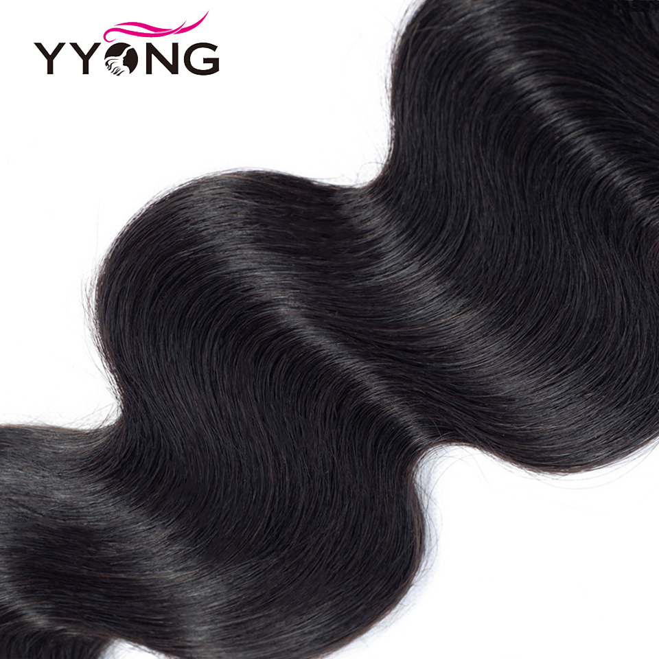 """Yyong  Body Wave Closure  4X4 Medium Brown Lace Closure Free/Middle/Three Part Swiss Lace With Baby Hair 8""""-22"""" 5"""
