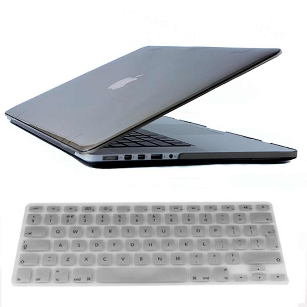 透明なクリアケース Macbook Air Pro の網膜 11 12 13 15 シリコンキーボードカバーとラップトップバッグケースのためのマックブック 11 12 13