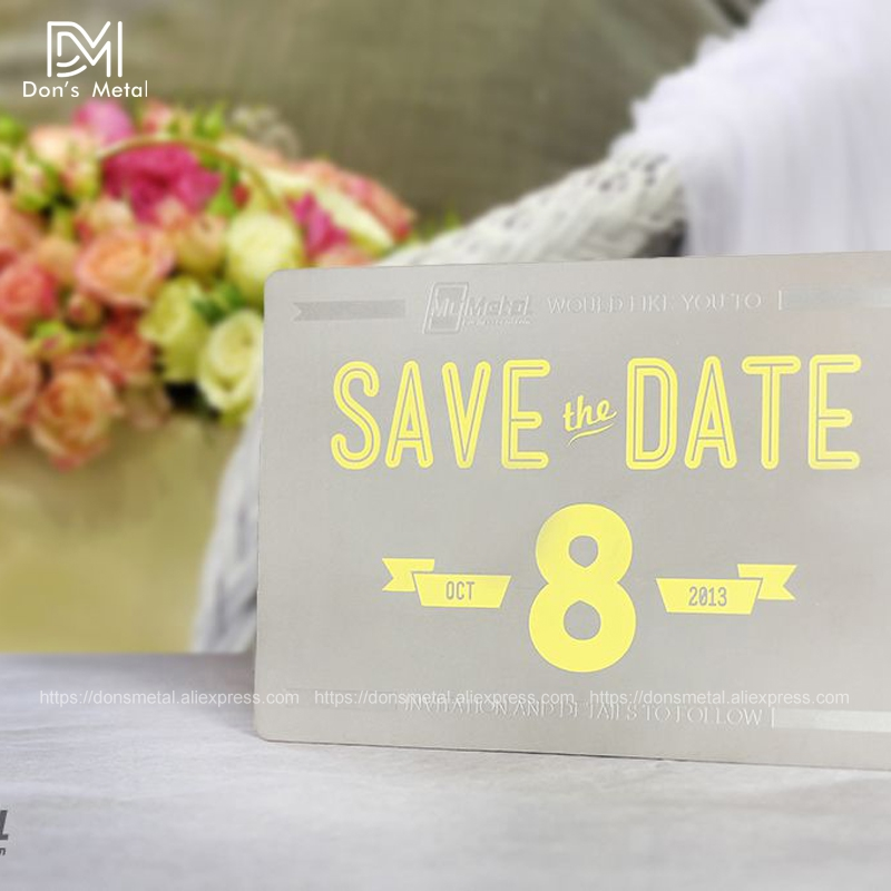 Custom metal invitation wedding invitation company invitation hollow stainless steel card design and production