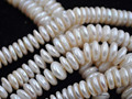 wholesale 1 string 10mm flat coin cultured freshwater pearl free shipping