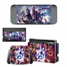 The Avengers Endgame Skin Sticker vinyl for NintendoSwitch Sticker Skin for Nintendo Switch NS Console and Joy-Con Controller