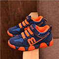 2016 New Children Casual Shoes Comfortable And Light Leather Shoes Boys And Girls Ventilation Lace-Up Children Flats Shoes