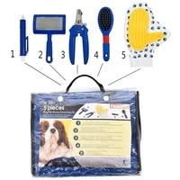 Pet Поставщик Pet Brush Product 5 Шт. В Наборе Собака Здоровья кошки Гребень Пинцет Перчатки Очистки Продукта Для Щенков Высокого качество