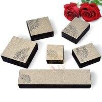 Retro Fashion Fabric Art Jewelry Bangles Necklace Bracelet Ring Gift Boxes Wholesale