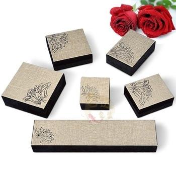 KYSZDL Retro Fashion Fabric Art Jewelry Bangles/Necklace/Bracelet/Ring Gift Boxes Wholesale