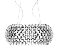 Modern Pendant Lights Fixture For Living Dining Room Foscarini Caboche Dia 35 50 65CM Clear Gold