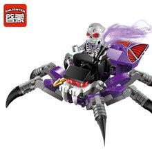 73pcs Enlighten Pirates series Poisonous spider building block set Kids Educational Bricks Toys