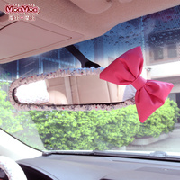 30cm Car Interior Rearview Mirror Cover Set Lovely Car-styling Little Girl Image Printing Cute Auto styling Accessories F06