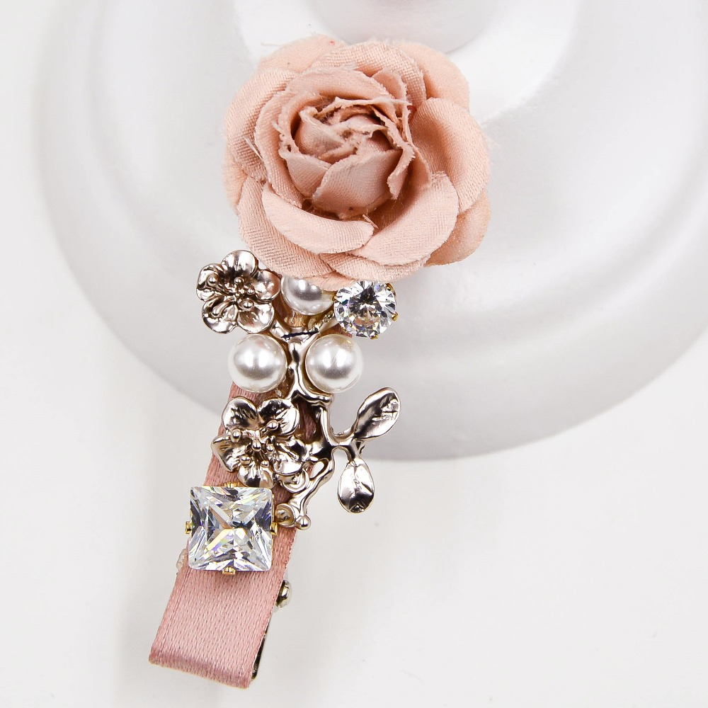 Online get cheap hair claw clips fine hair aliexpress 24 inches silk rose with pearls on metal flowers design alligator fine hair clips claw for women and girls dhlflorist Choice Image