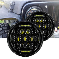 7inch 75W Daymaker Projector LED Headlight Assembly For Jeep Wrangler 07 17 Years Car Pair With