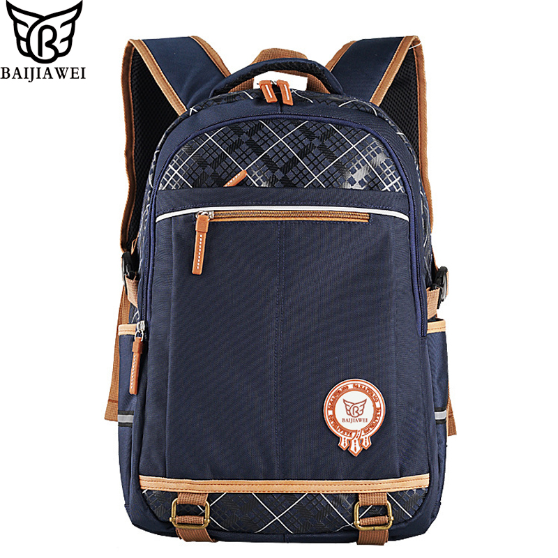 BAIJIAWEI 2017 New Children Backpack Primary School Bags for Boys Girls Big Capacity Waterproof Backpacks mochila chico chica цена и фото