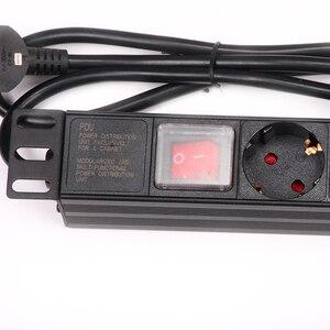 Image 3 - PDU prise 1U 8 ue, 16a, 220V 250V, avec câble dextension de 2m, prise murale avec plomb