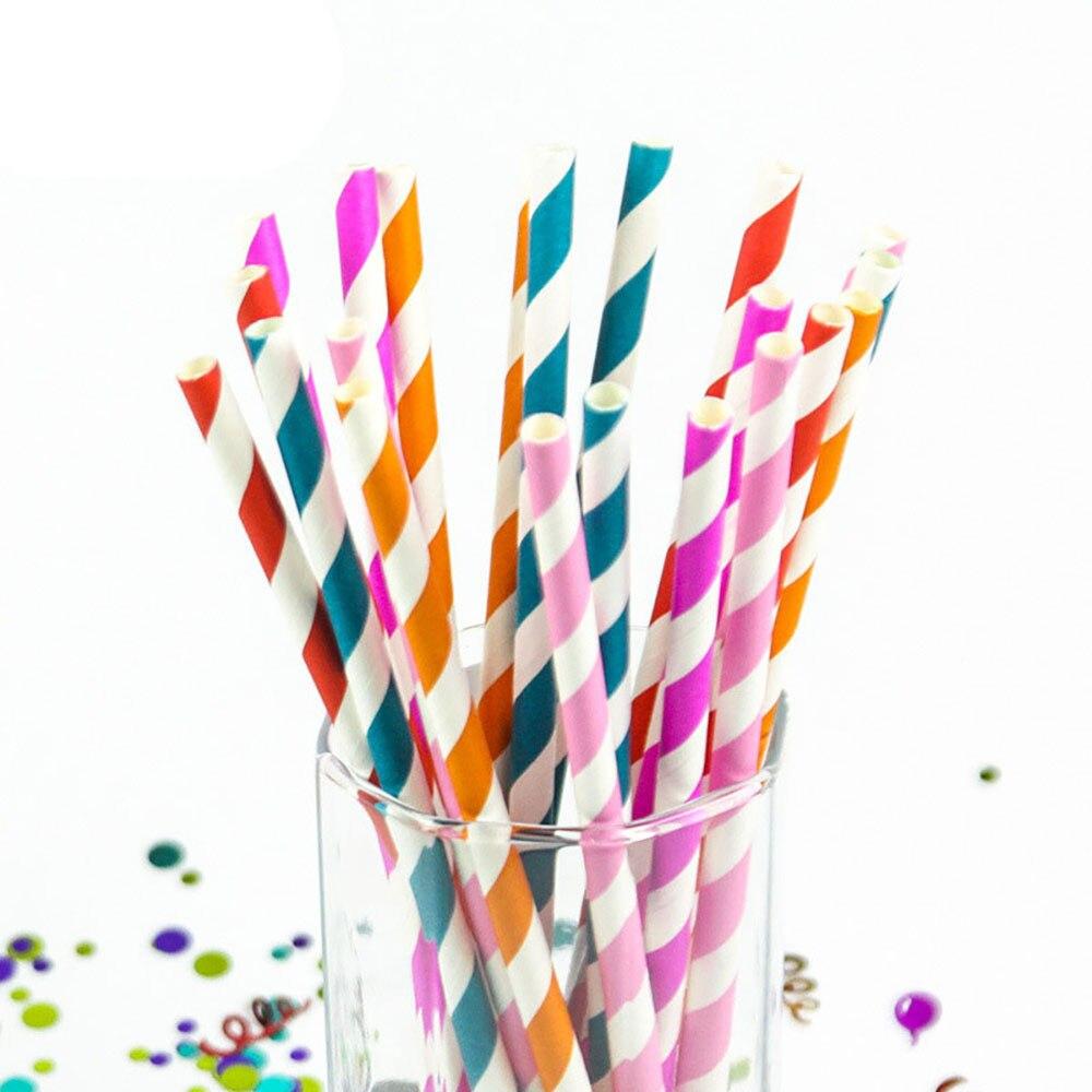 150PCSLot  Rainbow Option Design Paper Straws For Wedding Birthday Party Fashion Drinking Straws Decoration Supplies