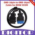 OBD 16pin ao Cabo 16pin OBD para BMW ICOM Frete Grátis