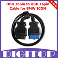 OBD 16pin to OBD 16pin Cable for BMW ICOM Free Shipping