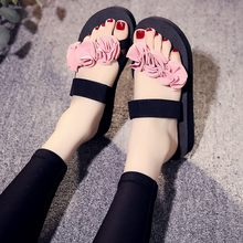 YOUYEDIAN Fashion Flip- flop Women Slip-on Open Toe Flower Wedges Color Slipper Shoes Brand Luxury 2019 zapatos de mujer#9(China)