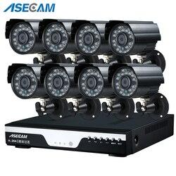 Super 4MP HD 8 kanał nadzoru domu czarny małe metalowe Bullet aparat bezpieczeństwa H.264 zestaw DVR na świeżym powietrzu 8CH system CCTV zestaw