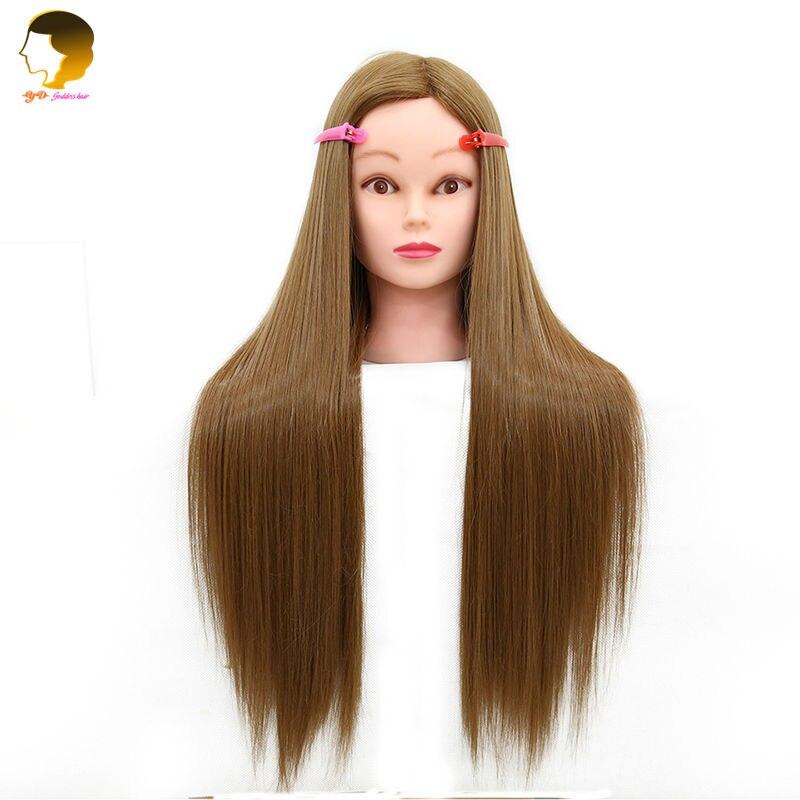 Mannequin Tête Avec Des Cheveux Cosmétologie Têtes de Mannequin Mannequin Coiffures Cheveux Longs Et Naturel Coiffeur Tête Pour Filles Grande Vente