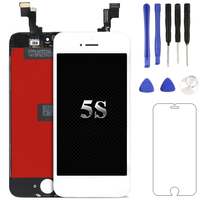 1pcs For IPhone 5S LCD With Touch Screen Digitizer Assembly Display For IPhone Replacement Camera Holder
