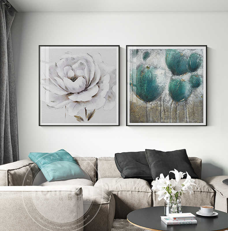 Noedic Style Green Spring Blooming Flower Canvas Painting Poster Print Unique Decor For Living Room Aisle Stud Wall Art Picture