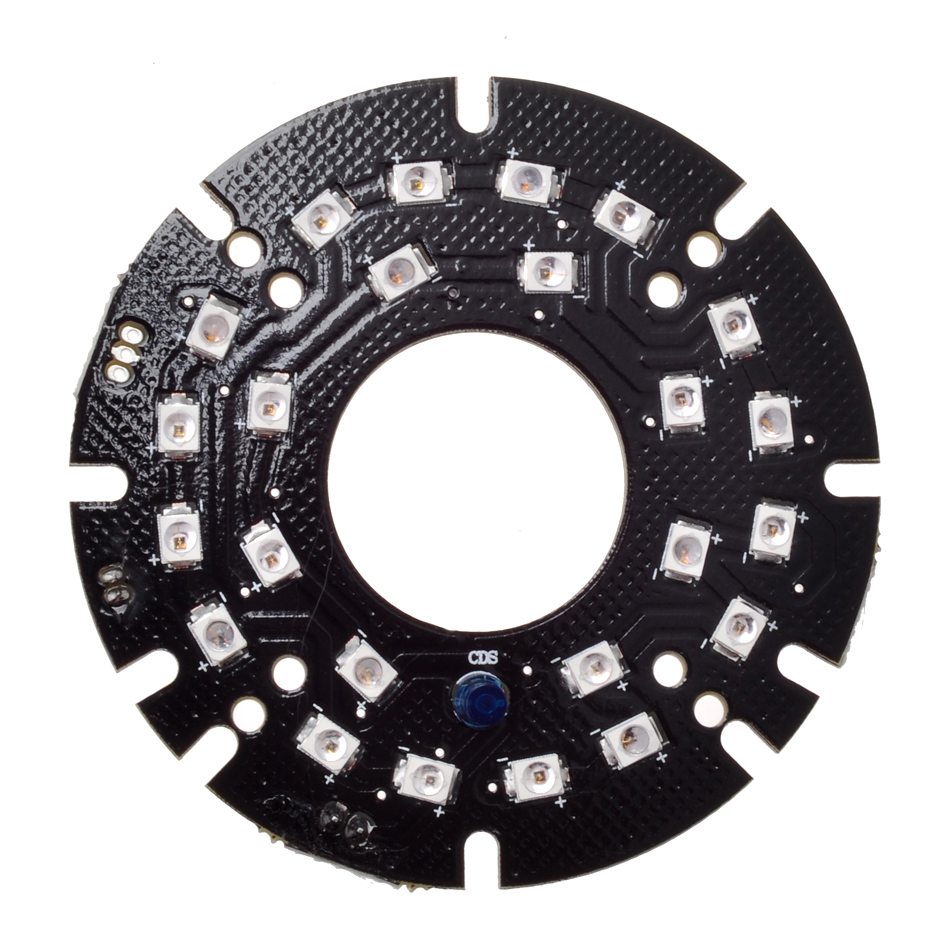 Wholesale Infrared 24pcs Laser IR LED board for MTV Lens Bullet Security IP CCTV Camera Outdoor night vision (Diameter: 60mm) led телевизор mystery mtv 4331lta2 black