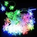 5 M 28 Fada LED Luz Da Corda Do Floco De Neve Luz twinkl Natal Xmas da Festa de Casamento Decoração 100-240 V DA UE plugue