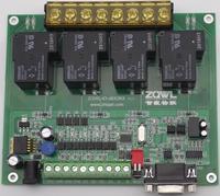 4 방향 릴레이 제어 보드 30a rs485 rs232 프로그래밍 가능한 스트립 절연 산업용 등급