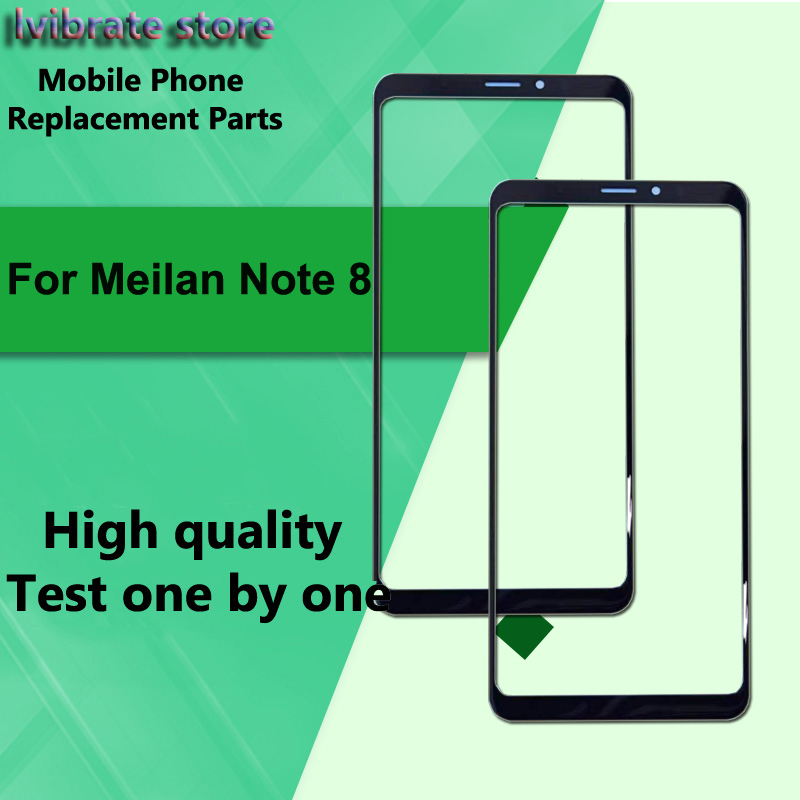 100% New Checked Meilan Note8 Touch Screen Outer Panel For Mei zu Meilan Note 8 M822Q Front Glass Lens touchScreen Digitizer