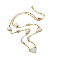 Cabinet White Pure Heart Resin Made Necklace Gold Color Long Accessories Lovely Girls Necklaces Chain New Hot