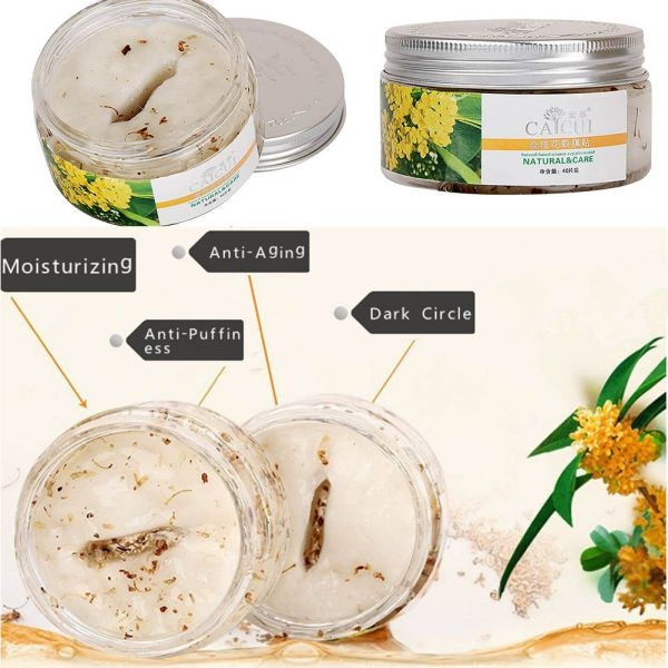 40pcs/bottle Golden Osmanthus Eye Mask Care Wrinkle Puffiness Dark Circles Bags 3