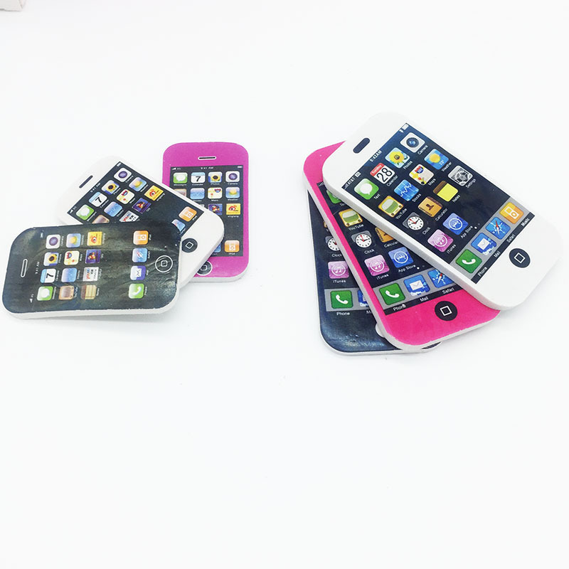 Apple mobile phone styling eraser primary school prizes cute rubber creative stationery school supplies