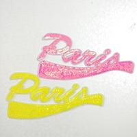 20pcs Fashion Garment Decor Letter Glitter Patch parches Jumpsuit Iron On Sequined Patches For Cloth Jacket Patchwork Appliques