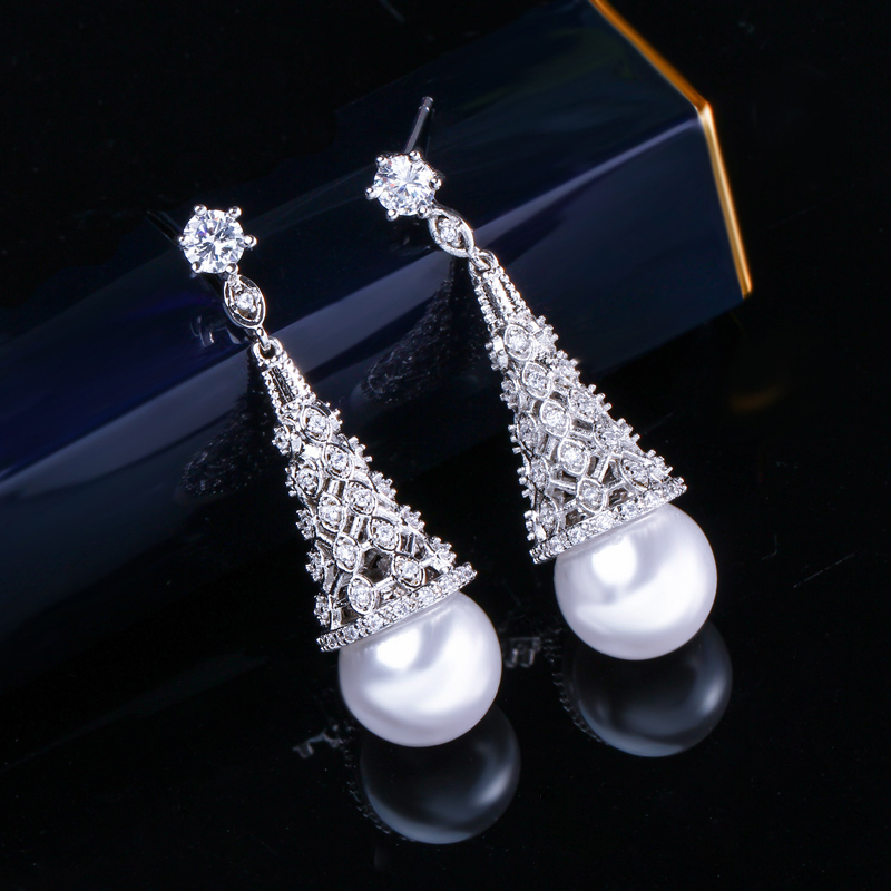Pearl Drop Earrings 7