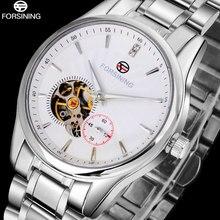 2016 FORSINING марка мужские часы простой автоматический самостоятельно ветер часы белый tourbillion наберите импортные 316L стальной браслет