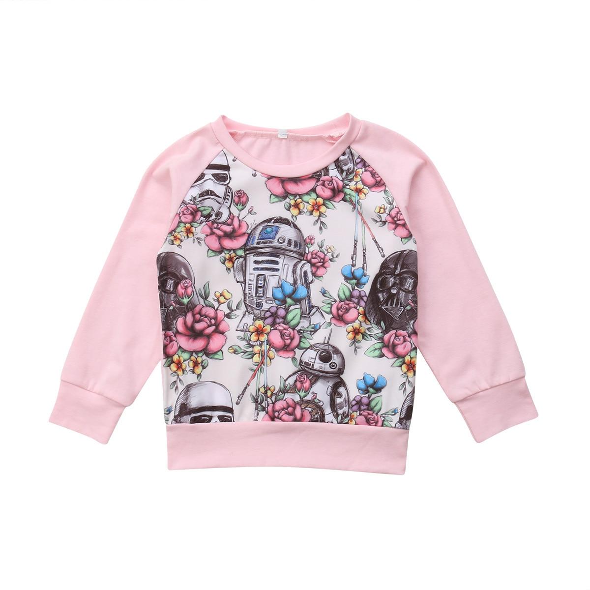 Pullover Sweatshirts Gerade 2018 Marke Neue Mode Kleinkind Baby Mädchen Casual Herbst Sweatshirts Floral Langarm Tops T-shirt Casual Baumwolle Kleidung 6m-4y Nachfrage üBer Dem Angebot Mädchen Kleidung
