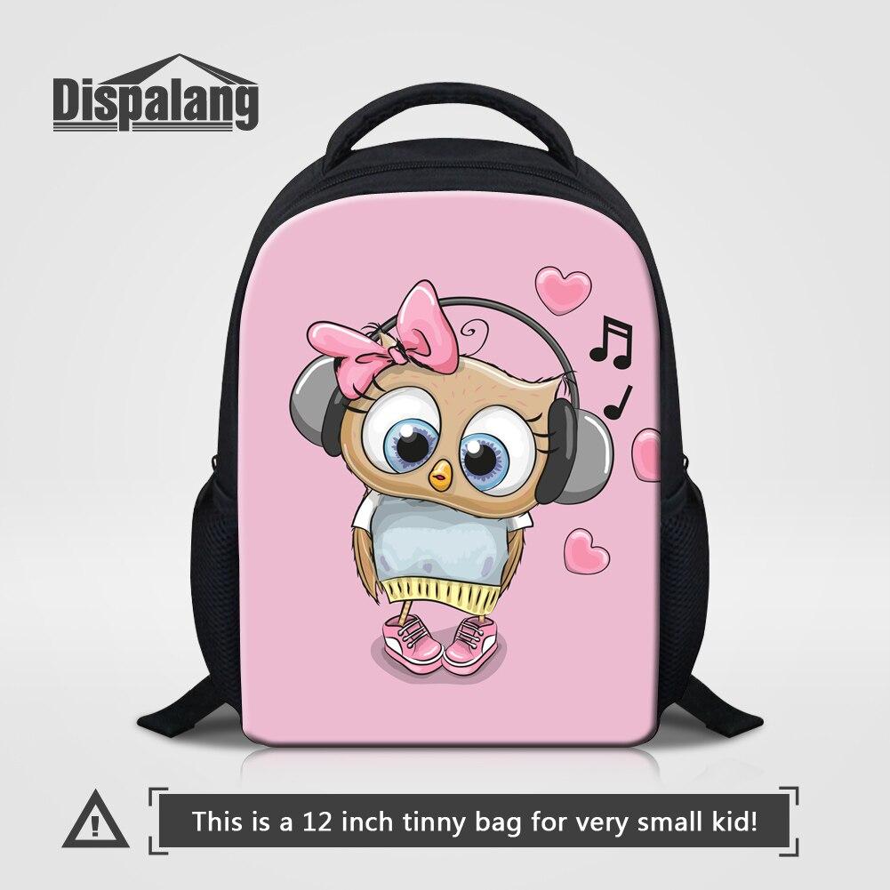 만화 운이 좋은 올빼미 폭스 돼지 곰 배낭 여자 12 인치 작은 Mochila Escolar Infantil 키즈 학교 Bookbag 아이 미니 륙색 배낭