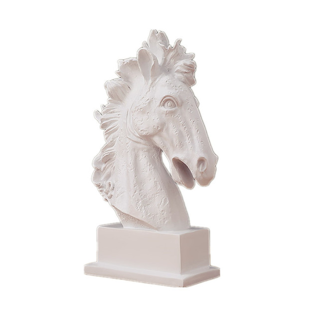 Nordic Modern Horse Head Statues Animals Art Sculpture Resin Craft Home Decoration Crafts Room Wedding Gifts R653