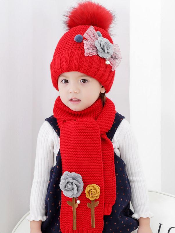 Ensemble bonnet /écharpe enfant