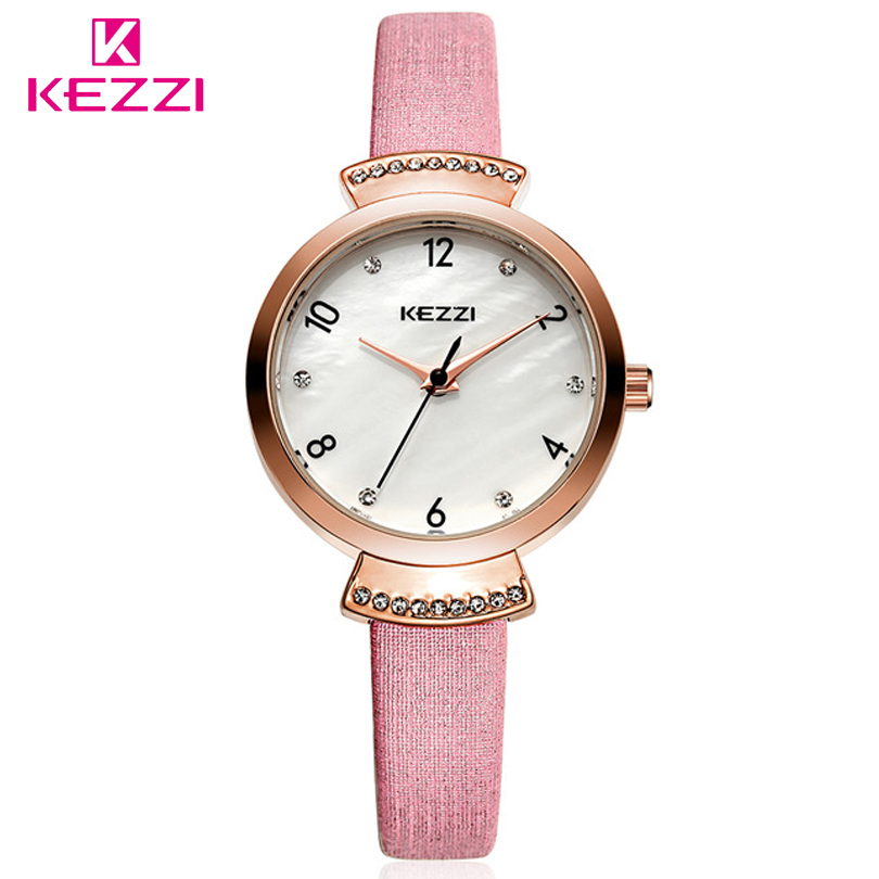 KEZZI Brand Leather Strap Watches Women Fashion Business Wristwatch Ladies Quartz Watch Casual Hours Hot Clocks Relogio Feminino стоимость