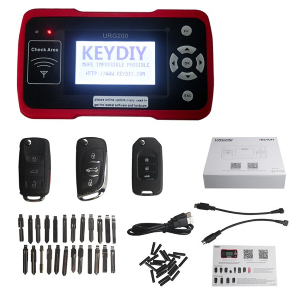 2017 URG200 Remote Maker with 1000 Tokens Replacement KD900 Remote Key Programmer Online Update Free Shipping  цены