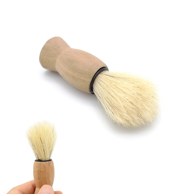 7.5*2.5 cm Wood Handle Badger Hair Beard Shaving Brush For Men Mustache Barber Tool Cheap 1